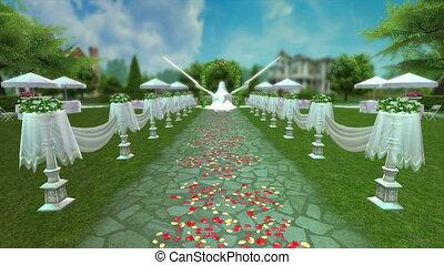 garden party - image of garden wedding party