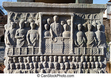 Base of the Obelisk of Theodosius from Istanbul, Turkey