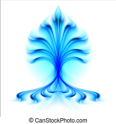 Fire flower. Illustration isolated over white background