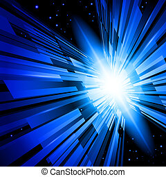 Blue Radiance - Beautiful Abstract Backdrop Effect of Blue...