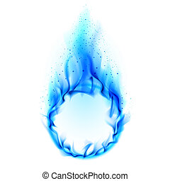 Blue ring of Fire Illustration on white background for...