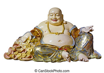 Big Belly Maitreya Cloth Bag Monk Statue - Big Belly...