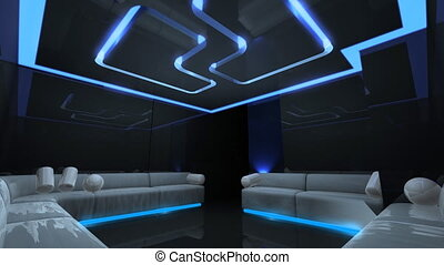 led light of Club Room - Led light color changing for disco...