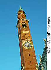 medieval tower of the basilica palladiana in vicenza