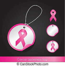awareness ribbon tags