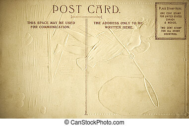Rear Side of Embossed Postcard w graphic space - The Rear...