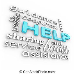 Help Words 3D Background Supportive Terms of Service - The...