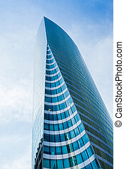 Modern skyscrapers in the business center of to la Defense,...