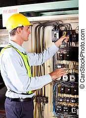 checking machine control box temperature
