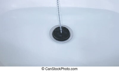 Sink Plug and flush water