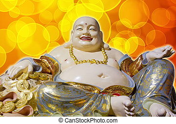 Big Belly Maitreya Happy Laughing Buddha Statue - Big Belly...