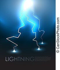 Lightning background - Lightning bolt vector abstract...