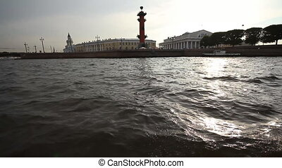 walking on a boat in St. Petersburg - Russia, St....