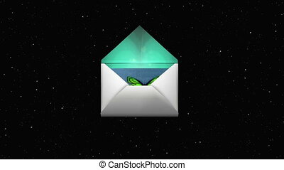 envelope - The envelope that hearts protrudes