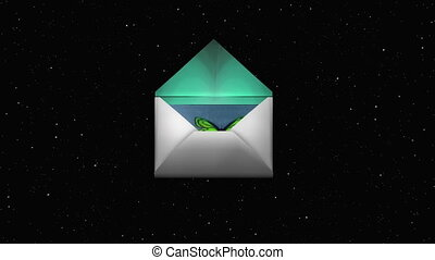 envelope - The envelope that a card protrudes