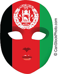 Mask Afghanistan - Classic mask with symbols of statehood of...