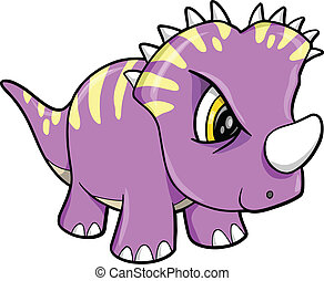 Tough Cute Dinosaur Animal Vector Illustration Art