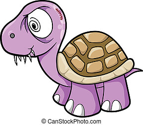 Crazy Insane Turtle Animal Vector
