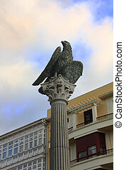 an eagle monument