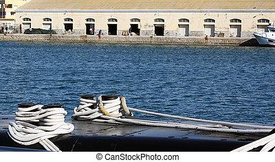 detalles, viejo, guerra, Submarino, S61