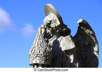 Religious sculptures in the palace of Gaudi, Astorga Spain