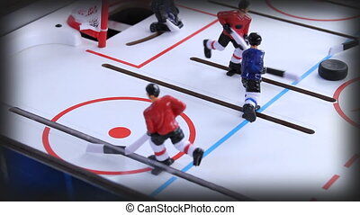 Side View Ice Hockey Vintage Game - Side View of Ice Hockey...