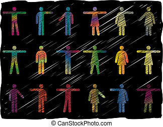 Line Art People Pictograms