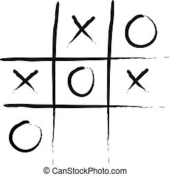 Tic-Tac-Toe - Handdrawn Vector Illustration of Tic-Tac-Toe...