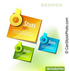 Infographics labels - Set of infographics color vector...