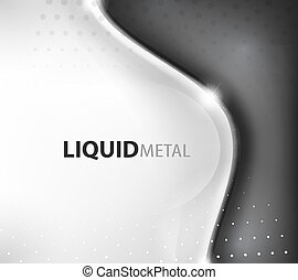 Abstract flowing wave busness background - Flowing liquid...