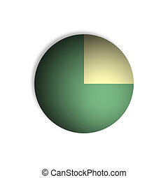 75% Pie Chart Percentage Graphics