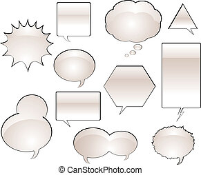 Comic Book Speech Balloons - Various Comic Book Speech...