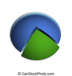 Highlighted 25% Business Pie Chart