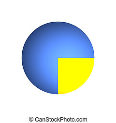 25% Business Pie Chart - Bitmap Illustration of Business Pie...