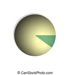 10% Pie Chart Percentage Graphics