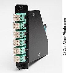 fibra, Óptico, casette, LC, Conectores
