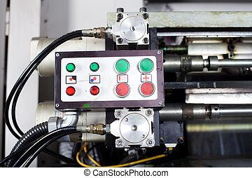 control box of industrial printing press - control box of a...