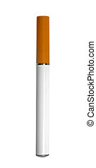 electronic cigarette on white background