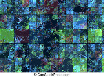 Satellite View - Generic Computerized Satellite Partial View...