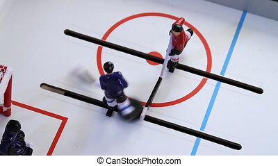 Top View Ice Hockey Vintage Game - Top View of Ice Hockey...