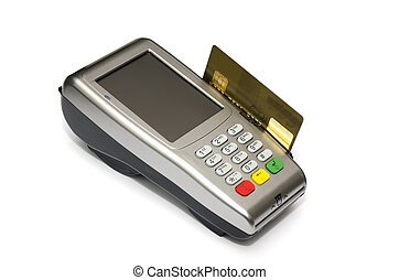 Device attached to your credit card gold card