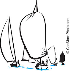 regata, -, mare