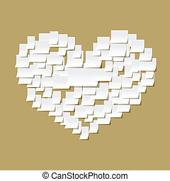 Paper notes heart