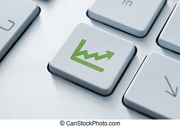 Investment key - Investment button on the keyboard. Toned...