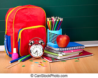 Back to school supplies. Isolated.