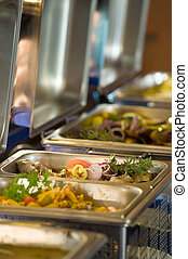 Catering - Banquet meals and Metallic banquet meal trays...