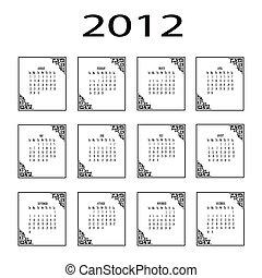 Calendar 2012 template