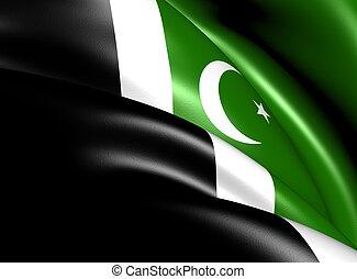 Islamabad Capital Territory Flag, Pakistan.