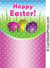 Happy Easter vector card