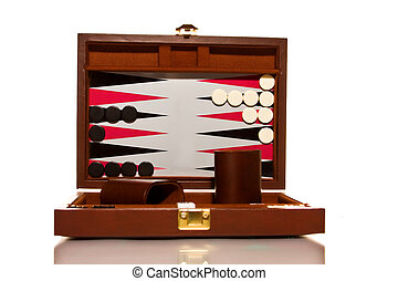 Backgammon - Set for a game of backgammon